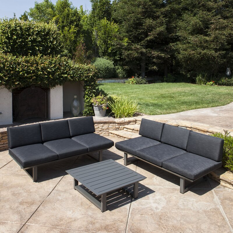 Grace 3 Piece Sofa Set With Cushions