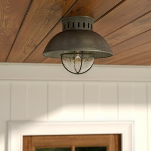 Outdoor flush mount lights youll love wayfair archibald 1 light outdoor semi flush mount aloadofball Image collections