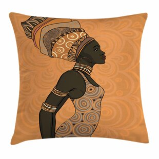 African Woman Indigenous People Square Pillow Cover