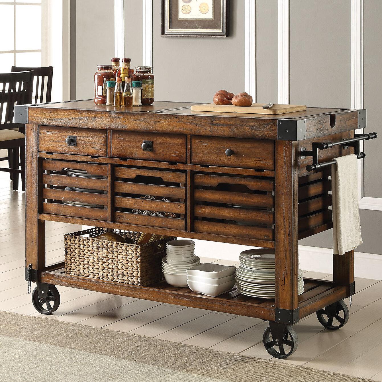 Williston Forge Lydd Kitchen Cart & Reviews | Wayfair