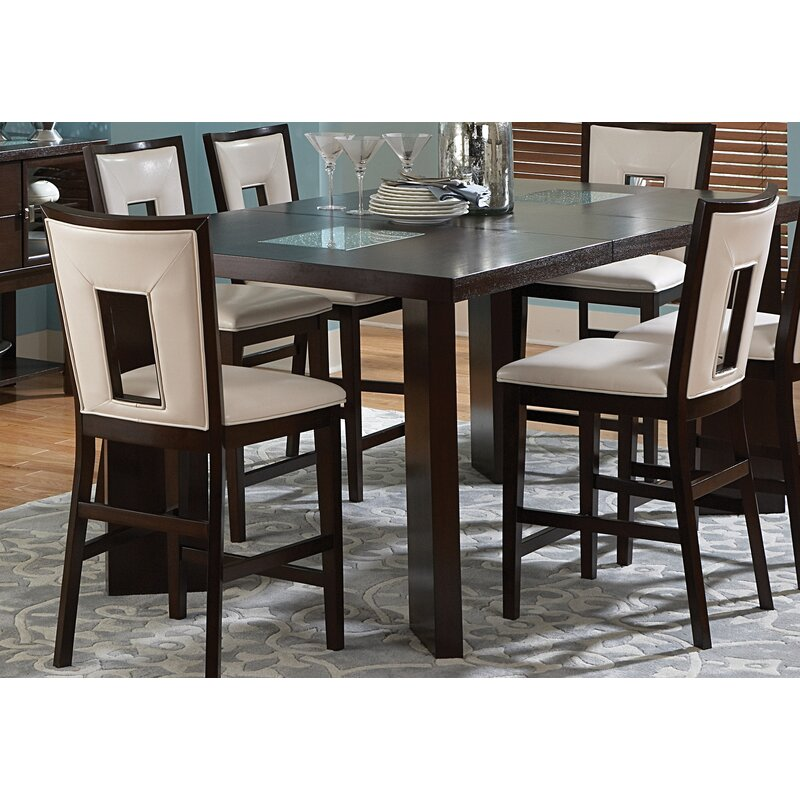 Brayden Studio Hillcrest Counter Height Extendable Dining