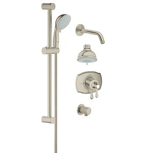 shower faucet. GrohFlex Pressure Balance Tub and Shower Faucet Modern Brushed Nickel Faucets  AllModern