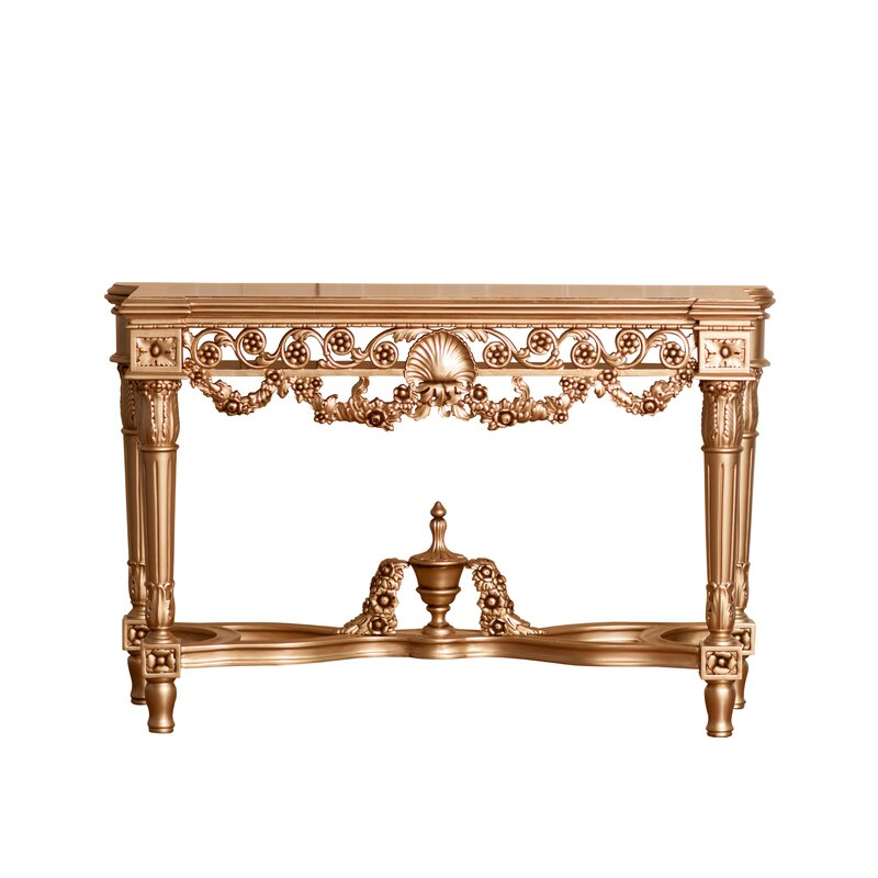 Punctual Solid Mahogany French Chateau Style Antique White Carved Console Hall Table Home, Furniture & Diy