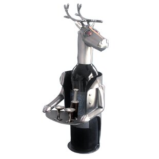 Reindeer 1 Bottle Tabletop Wine Rack