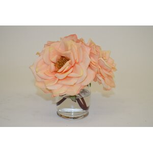 Bloomed Roses in Hourglass Vase