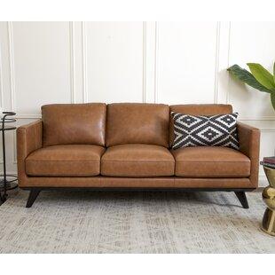 Apartment Size Leather Sofa Wayfair - Manhattan-leather-studio-sofathe-perfect-leather-sofa-for-your-room