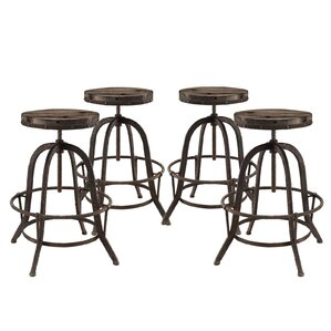 Collect Adjustable Height Bar Stool (Set of 4) by Modway