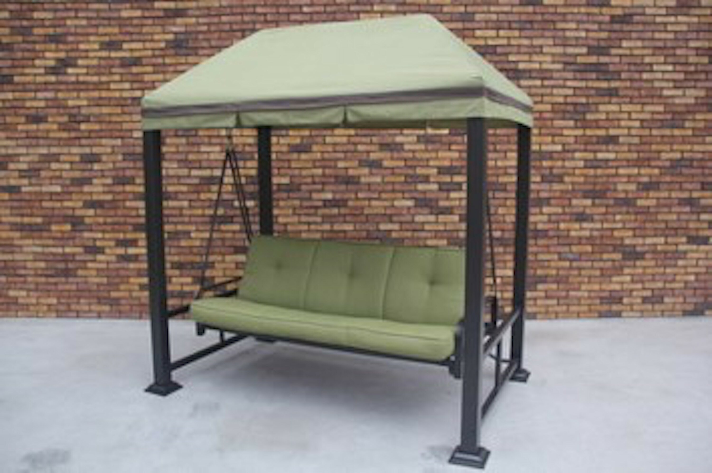 Darby Home Co Trevino 3 Person Porch Swing Metal Frame With Stand