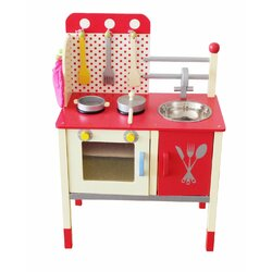 Wooden Play Kitchen berry toys cute and fun wooden play kitchen & reviews | wayfair