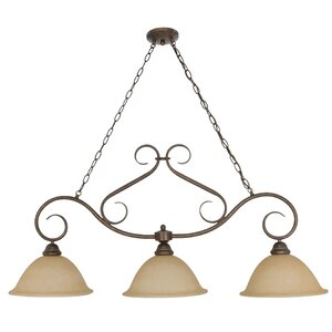 Claycomb 3-Light Shaded Chandelier