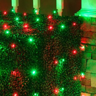Net lights red holiday lighting youll love wayfair save aloadofball Gallery