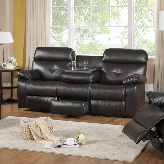 Roquette Leather Reclining Sofa Part 49