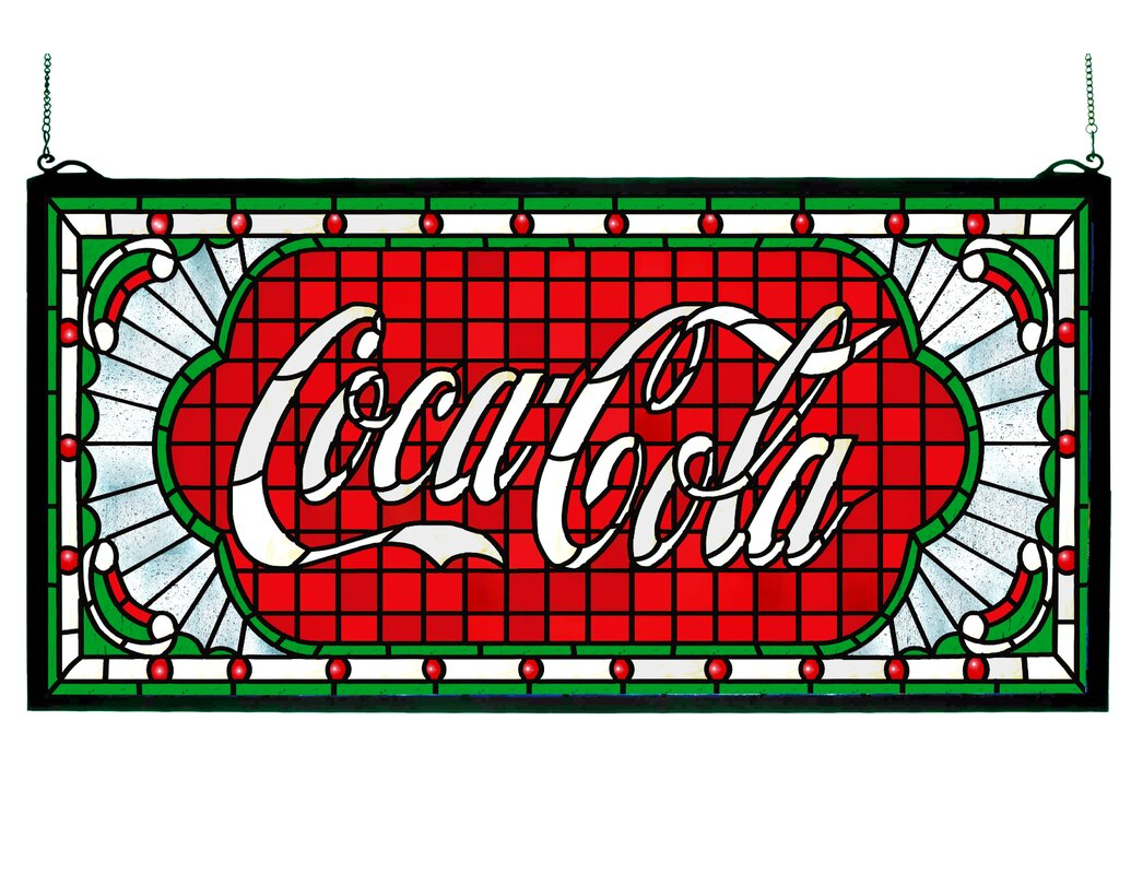 Victorian Coca-Cola Web Stained Glass Window