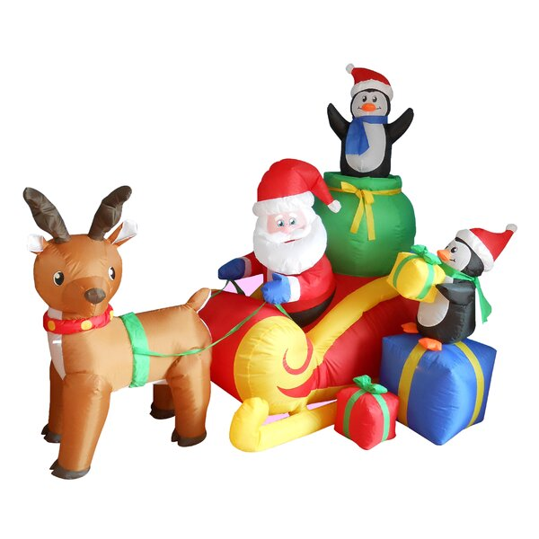 christmas inflatables youll love wayfair - Outdoor Christmas Inflatables