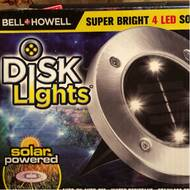 Disk Solar Powered LED Well Light Pack