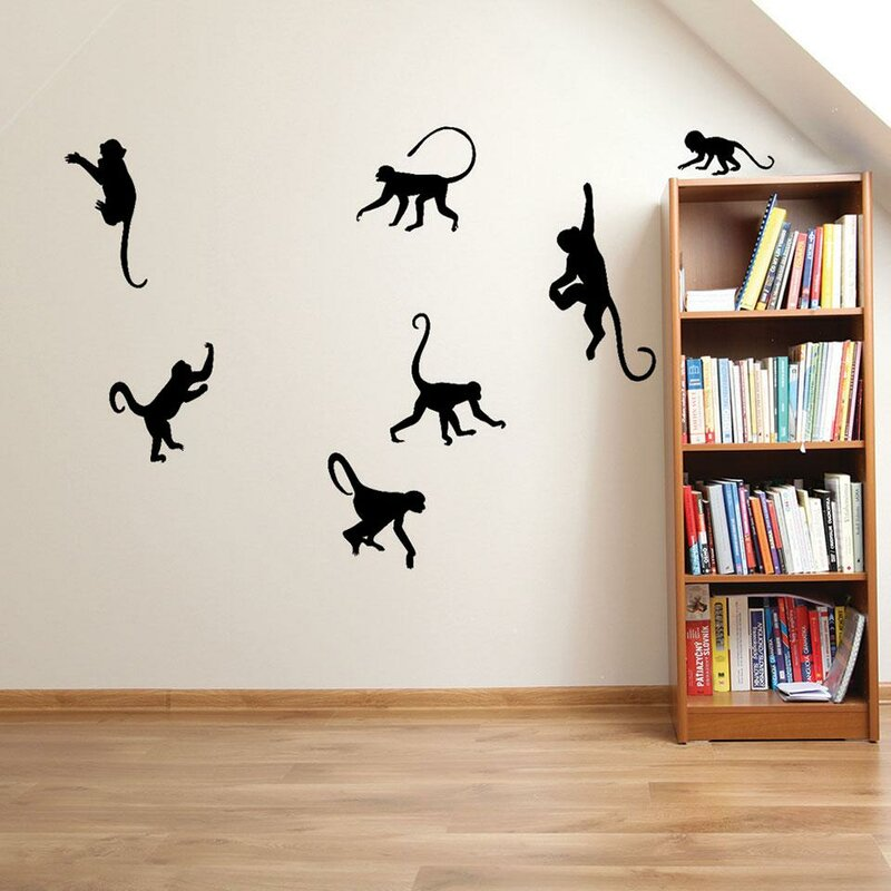 Ames Monkey Wall Decal Set