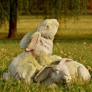 Garden Décor Bunnies At Play Statue