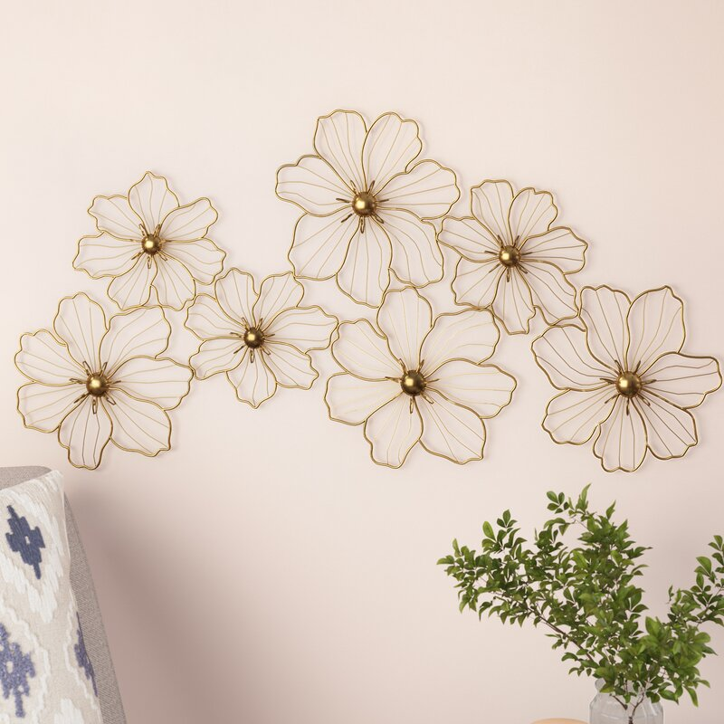 Mack & Milo Flowers Metal Wall Decor & Reviews | Wayfair