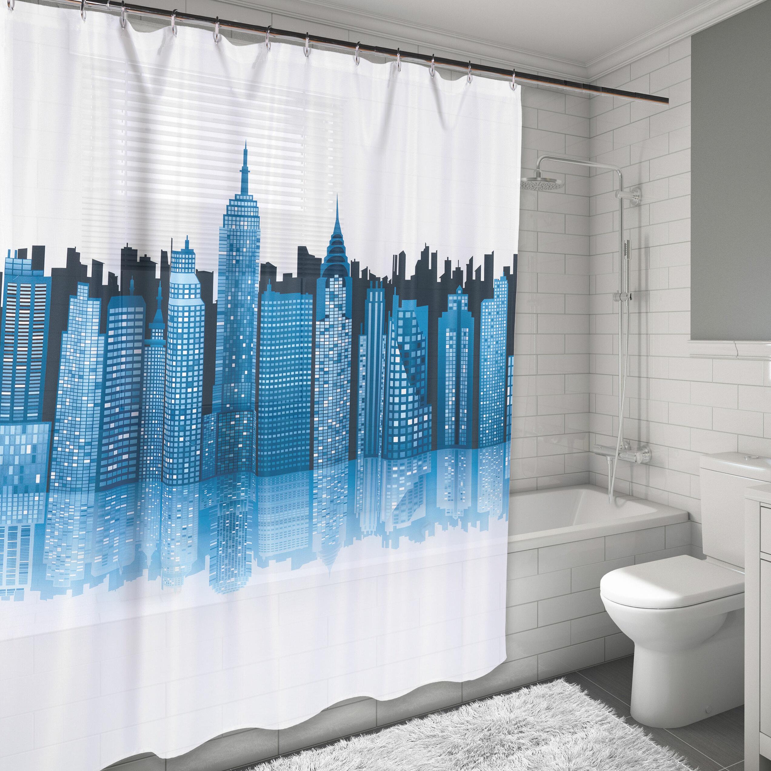 East Urban Home Cityscape Shower Curtain & Reviews | Wayfair