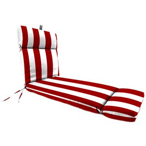 Striped Outdoor Chaise Lounge Cushion