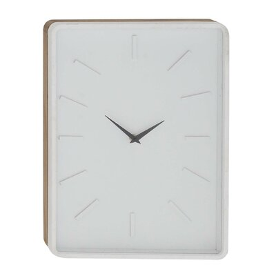 Turn on the Brights Fairview Modern Rectangular Wall Clock