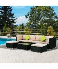 Schöner Wohnen App lynton garden 6 sitzer loungemöbel set otrange bewertungen wayfair de