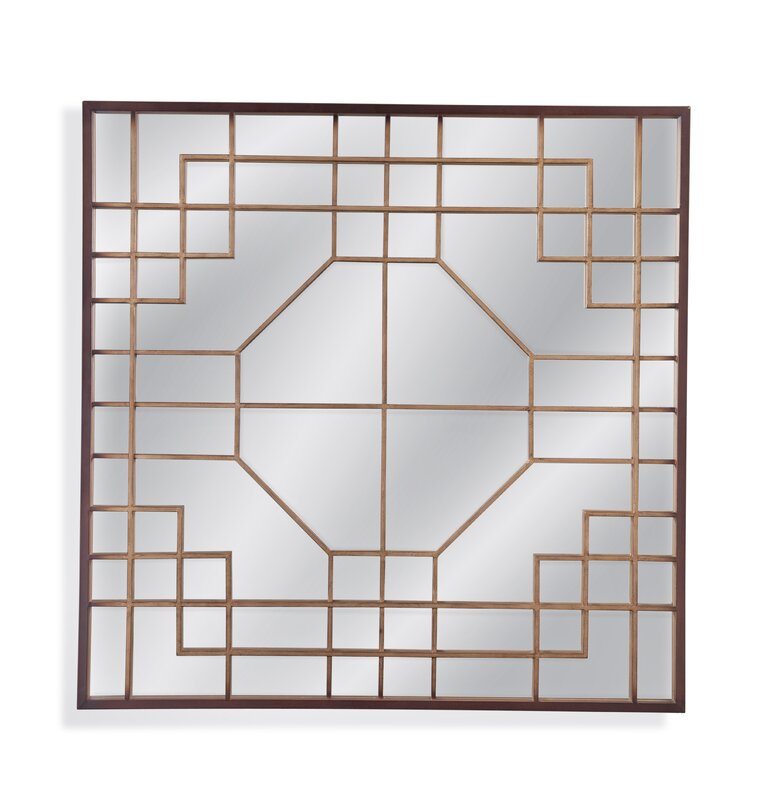 Geometric Wall Mirror willa arlo interiors square geometric overlay wall mirror | wayfair