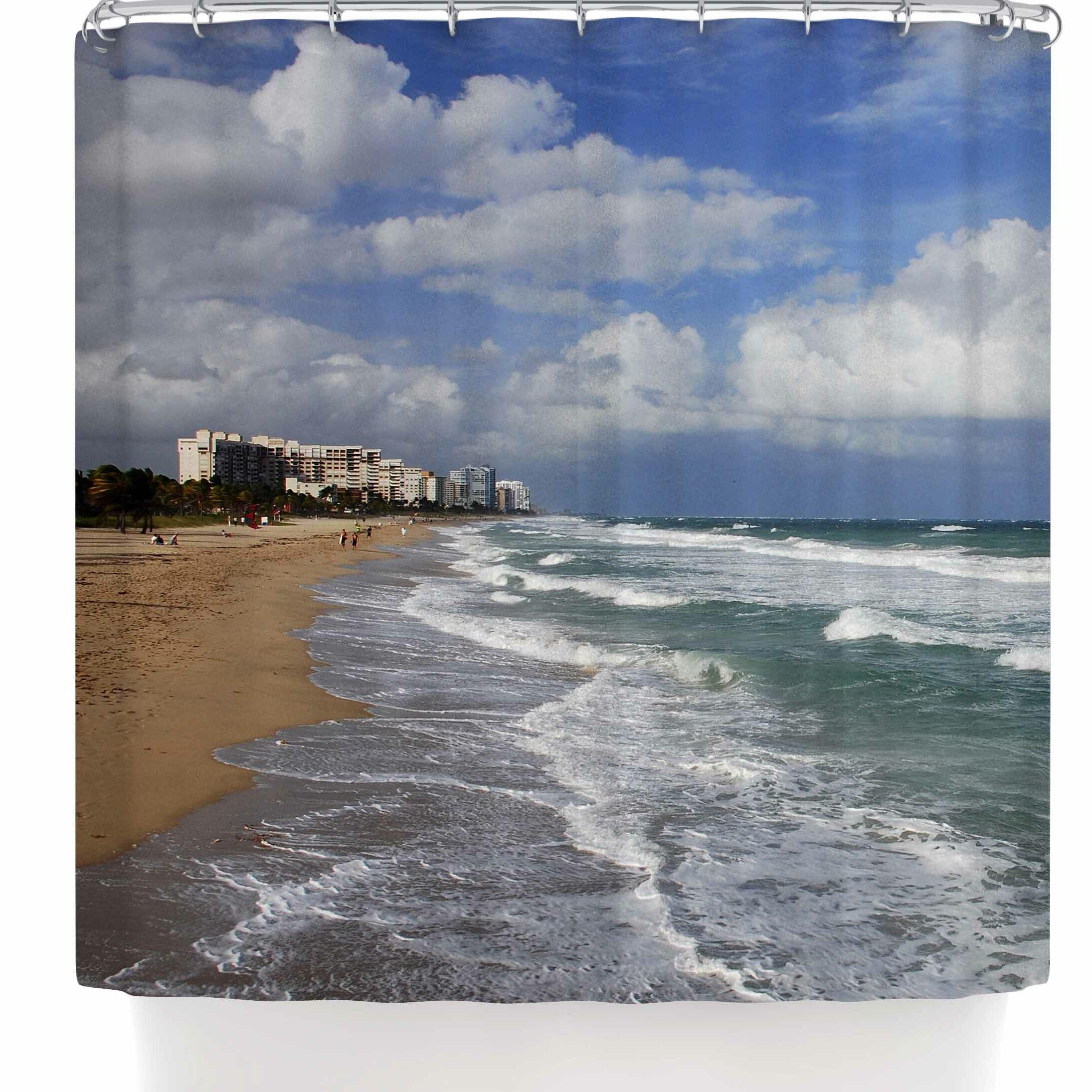 East Urban Home Nickn Florida Coast Beach Shower Curtain