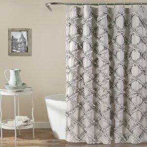 beige and gray shower curtain. Carli Shower Curtain  Gray Silver Curtains You ll Love Wayfair