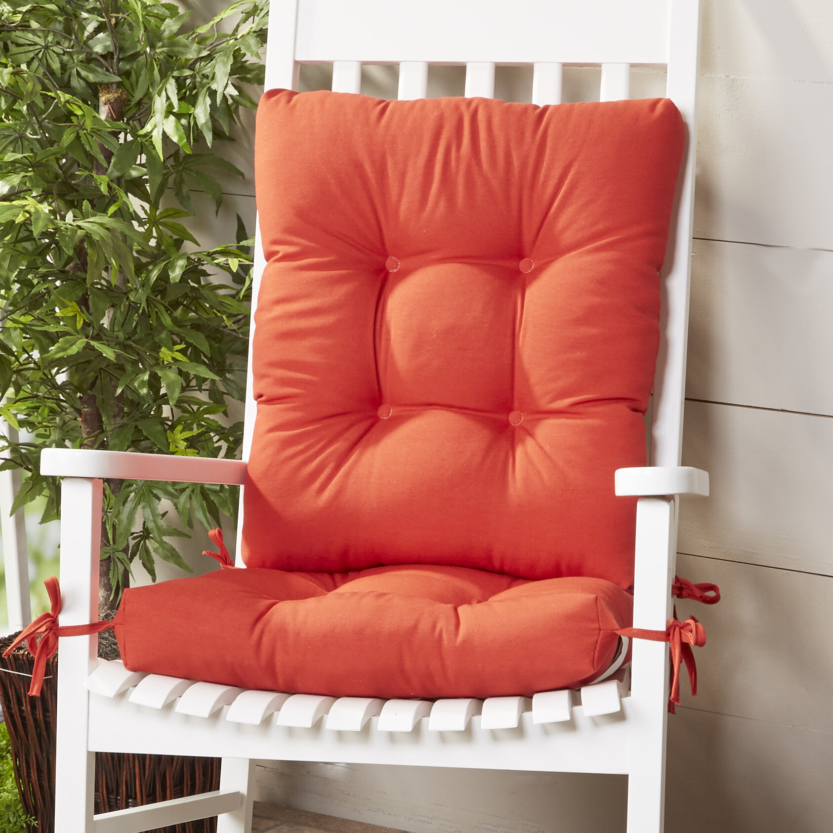Wayfair Basics™ Wayfair Basics Indoor/Outdoor 2 Piece Rocking Chair Cushion  Set U0026 Reviews | Wayfair