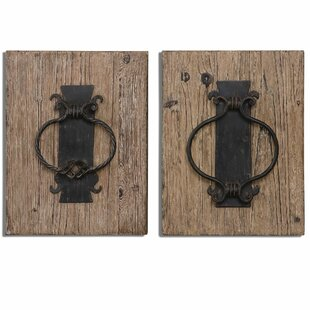 2 Piece Door Knockers Wall Décor Set