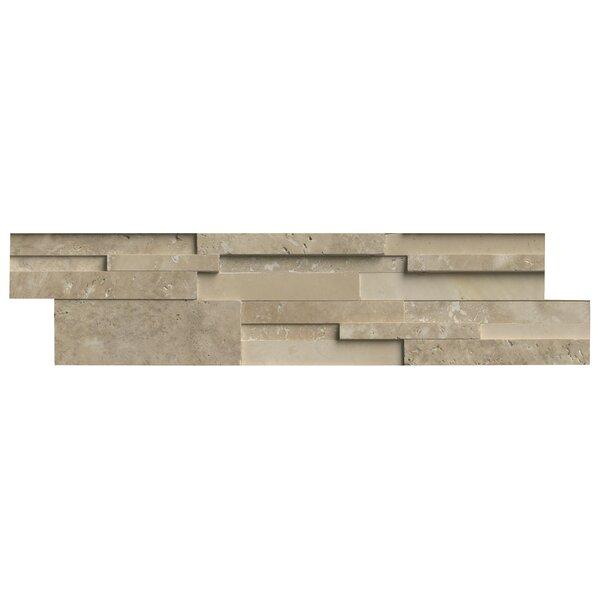 Msi 6 X 24 Travertine Splitface Tile In Durango Cream Wayfair