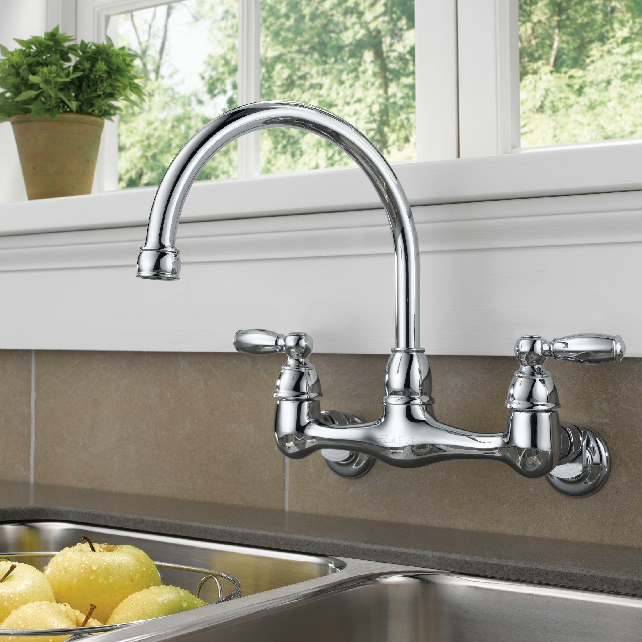 Kitchen Faucets.Double Handle Kitchen Faucet