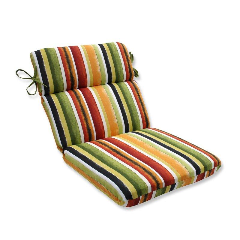 Dina Noir Indoor/Outdoor Dining Chair Cushion