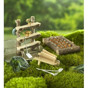 Good Miniature Patch 6 Piece Fairy Garden Set