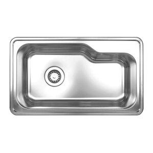 Whitehaus Collection Noah's Single Bowl Drop-in Kitchen Sink