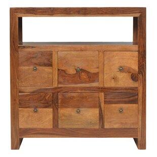 Columbine Valley Sheesham Wood 6 Drawer Sideboard