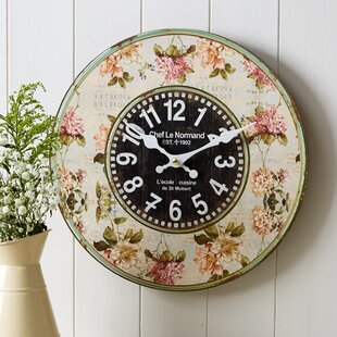 Generous Brass Wall Clock French Style Louis Xv Hand Made Bright In Colour Maritime Clocks Antiques