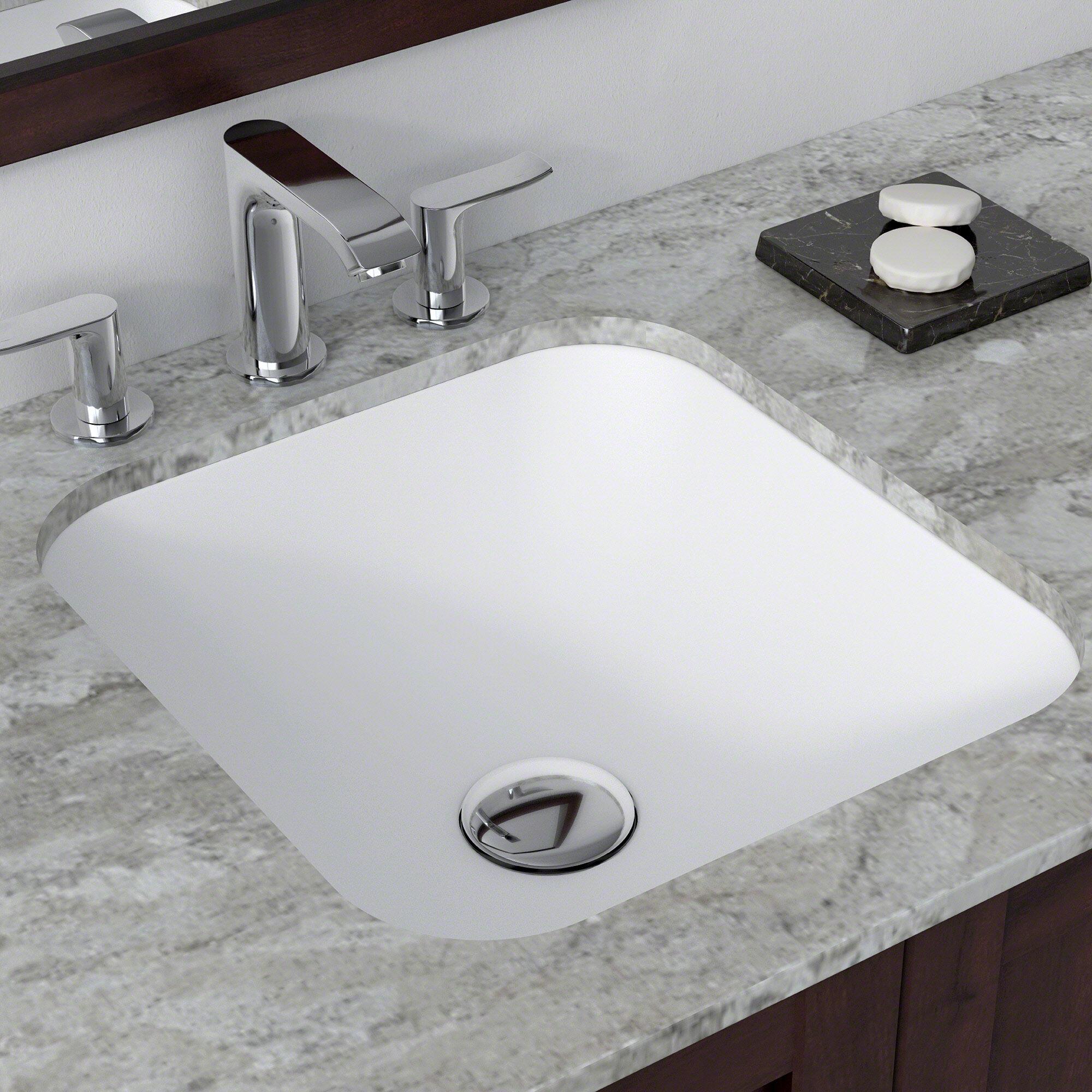 & Kraus Natura™ Square Undermount Bathroom Sink \u0026 Reviews | Wayfair