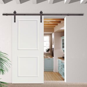 sliding barn doors. classic bent strap sliding track hardware mdf 2 panel primed interior barn door doors s