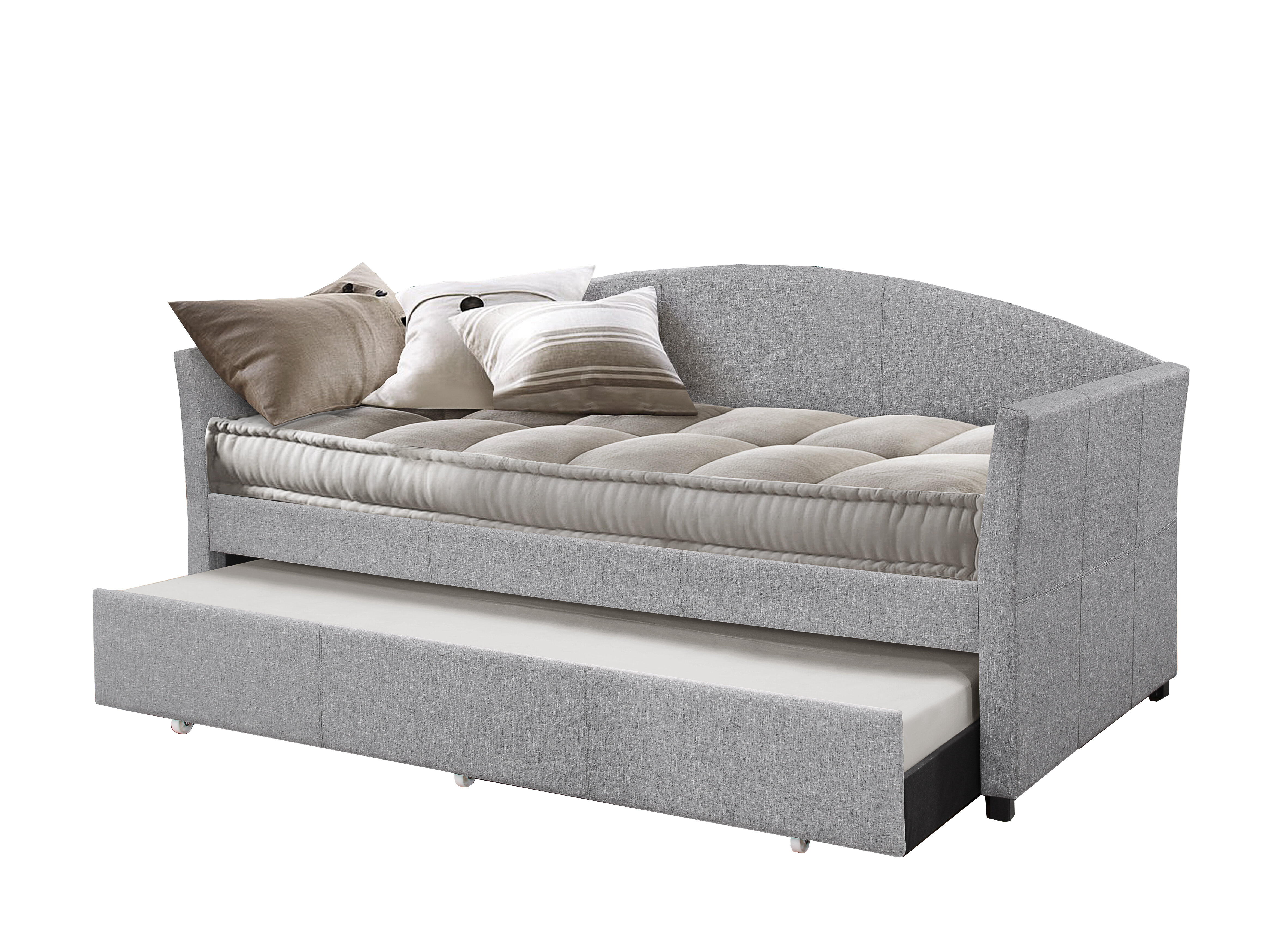 Alvina Upholstered Daybed With Trundle Reviews Birch Lane