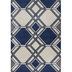 Lynsey Ivory/Denim Indoor/Outdoor Area Rug