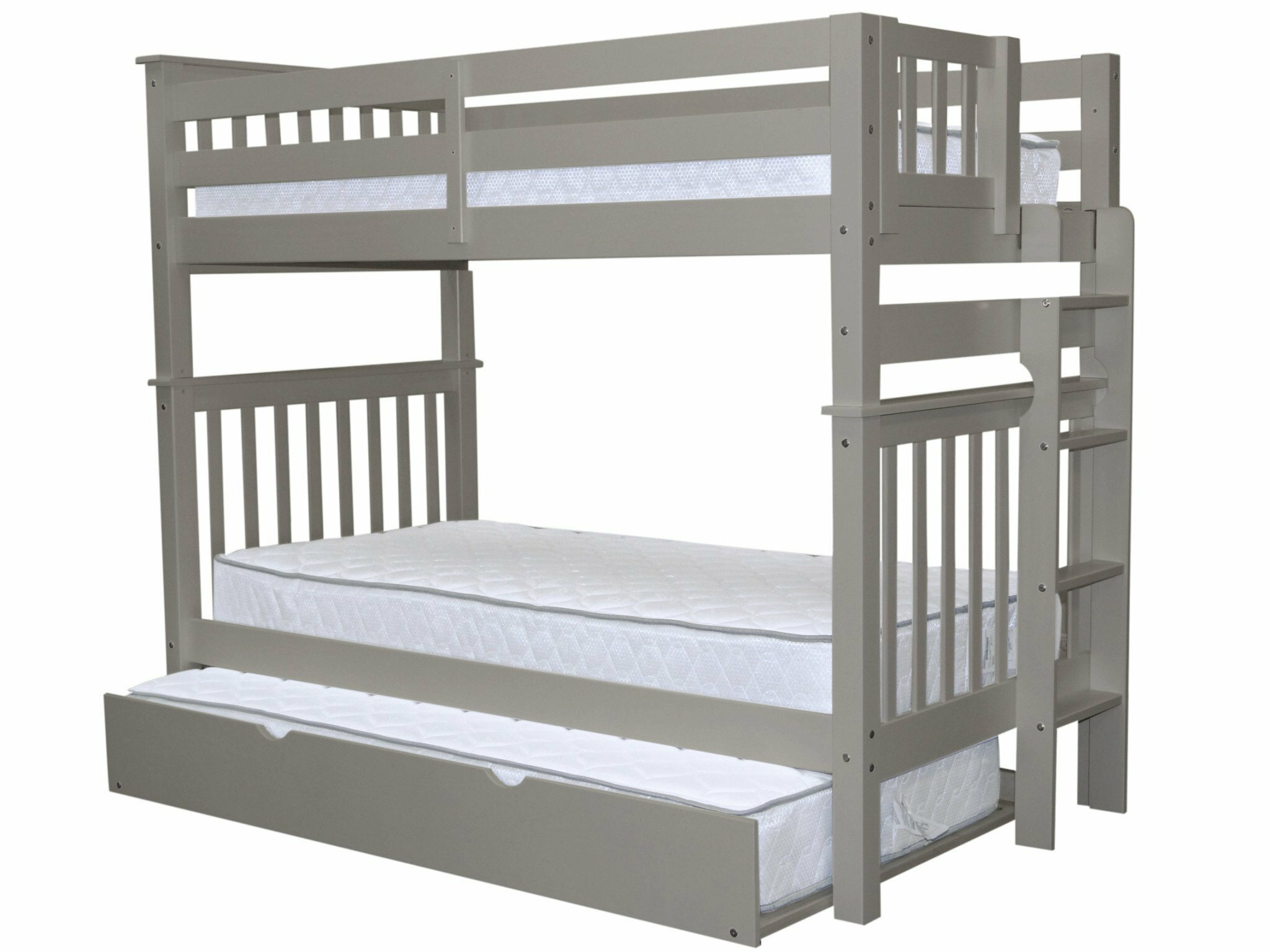 Harriet Bee Treva Tall Twin over Twin Bunk Bed with Trundle ...
