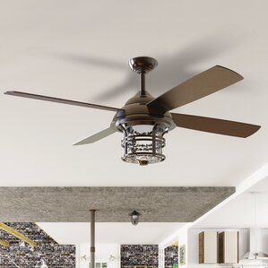 56 Concetta 4 Blade Outdoor Ceiling Fan With Remote