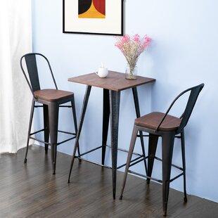 Lyndia 3 Piece Pub Table Set & Pub Tables \u0026 Bistro Sets You\u0027ll Love   Wayfair