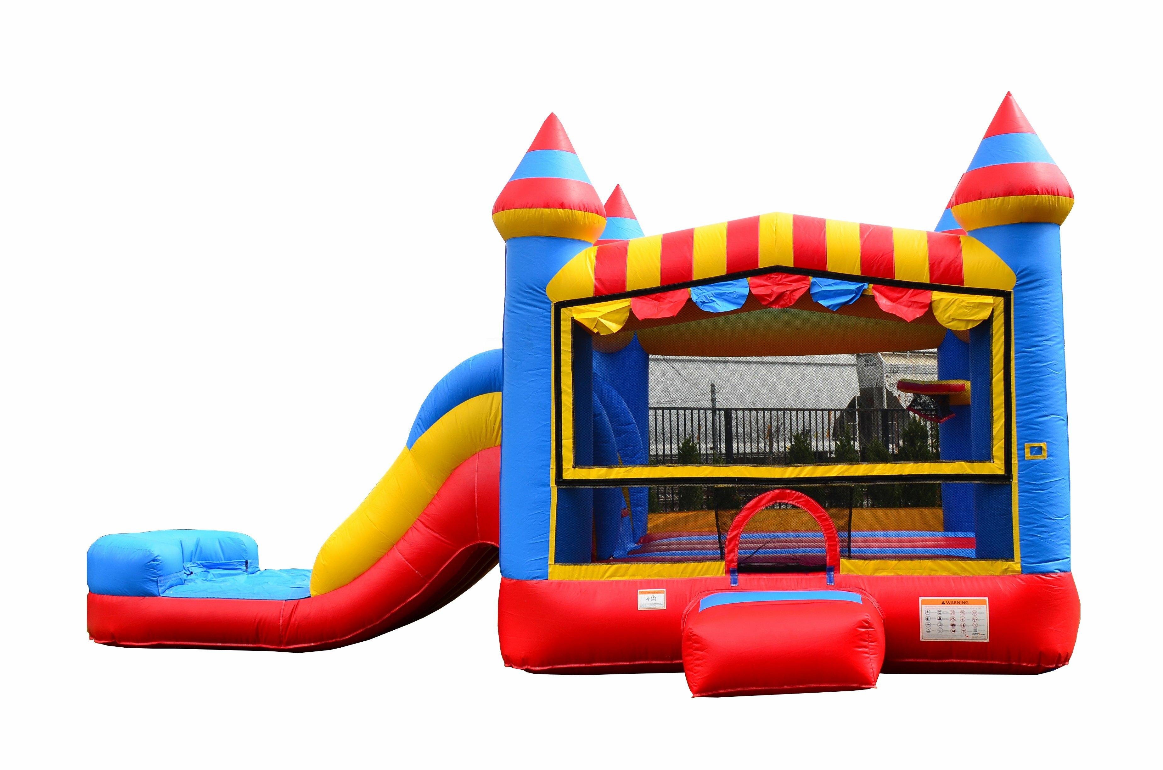 91556992a06 JumpOrange Inflatable Circus Bricks Athletic Slide Bounce House ...