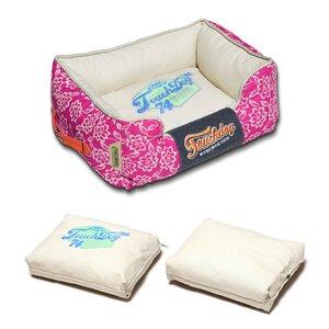 Rose-Pedal Patterned Premium Rectangular Dog Bed