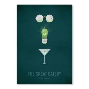 The Great Gatsby Minimal Poster Graphic Art  sc 1 st  Wayfair & Great Gatsby Wall Art | Wayfair
