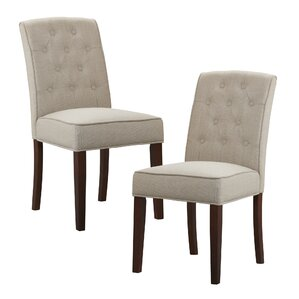 Cayman Tufted Side Chair (Set of 2) by Three Posts