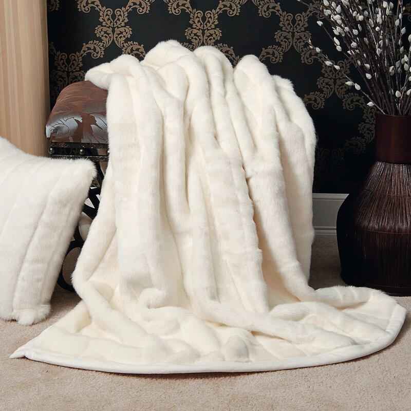 Best Home Fashion Inc Faux Fur Lounge Throw Blanket Reviews Magnificent Real Mink Throw Blanket